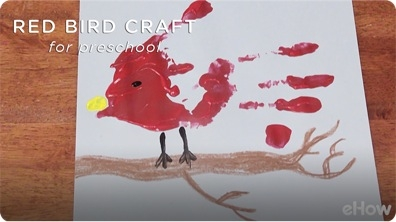 Red Bird Preschool Crafts