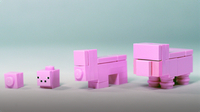 How To Build LEGO Minecraft Pig