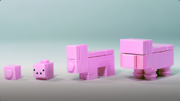 How To Build LEGO Minecraft Pig