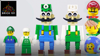 How To Build LEGO Luigi (featuring Mario, Link & Mega Man)