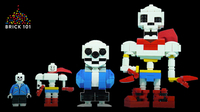 How To Build LEGO Undertale Sans and Papyrus