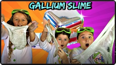 GALLIUM SLIME - Cool STEEL Slime That Melts in Your Hands!