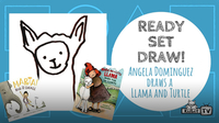 Ready Set Draw! Angela Dominguez draws una Tortuga y Llama!