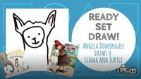 Ready Set Draw! Angela Dominguez draws una Tortuga y Llama!