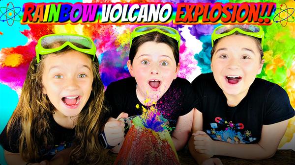 Make a Rainbow Volcano Explosion