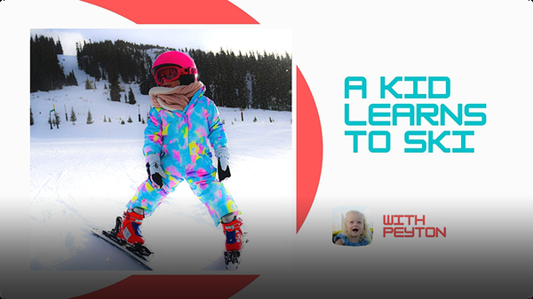 Adventure Family Journal: A Kid Learns to Ski