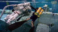 Astronauts training underwater