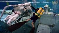 Astronauts training underwater