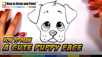 How to Draw a Cute Puppy Face