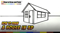 How to Draw a House in 3D