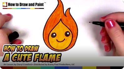How to Draw a Cute Flame for Kids