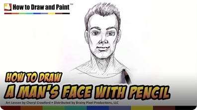 How to Draw a Man's Face With Pencil