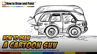 How to Draw a Cartoon SUV