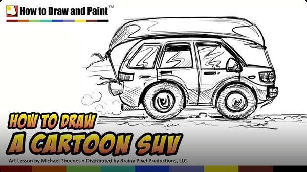 How to Draw a Cartoon SUV