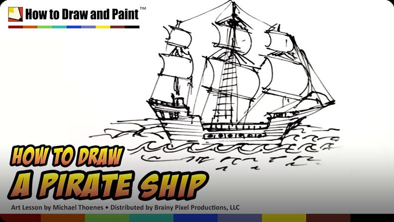 How To Draw A Pirate Ship Video Discover Fun And Educational Videos That Kids Love Epic Children S Books Audiobooks Videos More