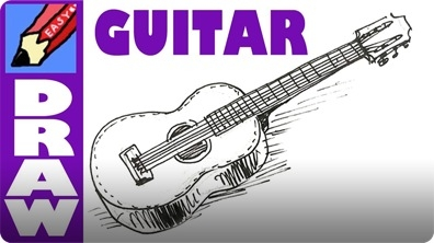 How to Draw a Spanish Guitar Real Easy