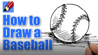 How to Draw a Baseball Real Easy