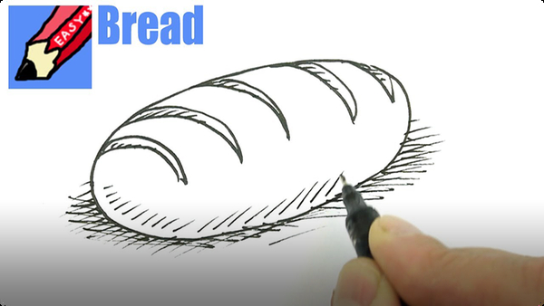 How to Draw a Loaf of Bread Real Easy