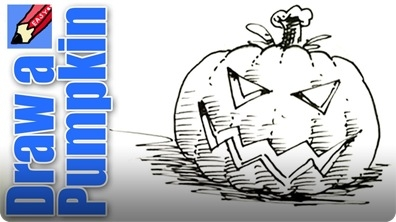 How to Draw a Pumpkin Head for Halloween Real Easy