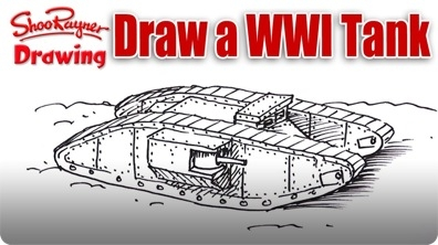 How to Draw a WWI Tank