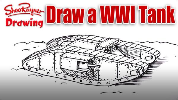 How to Draw a WWI Tank