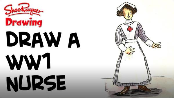 How to Draw a WWI Nurse