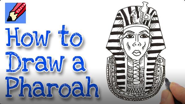 How to Draw Tutankhamen Real Easy