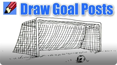 How to Draw a Soccer Goal Real Easy