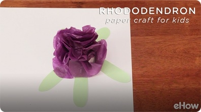 Rhododendron Paper Craft Project