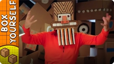 Craft Ideas with Boxes - Tribal Mask