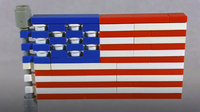 How To Build LEGO American Flag