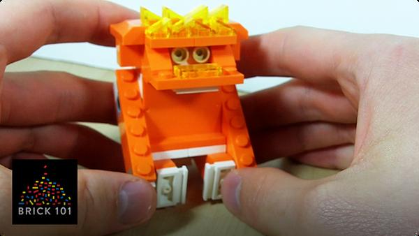 How To Build an Orange LEGO Gorilla