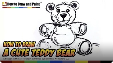How to Draw a Cute Teddy Bear