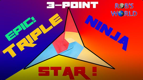 How to Make an EPIC Triple Ninja Star! (Tri-Star)