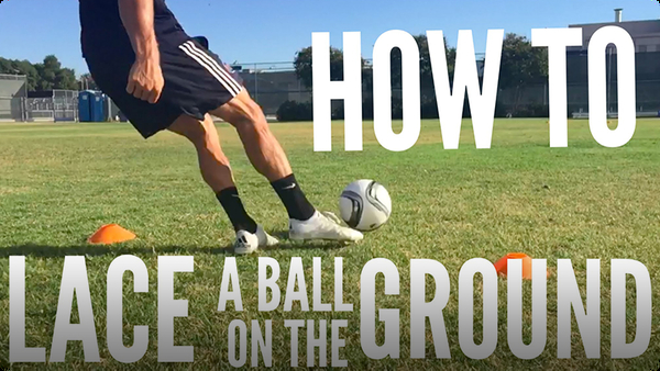 How to Lace a Soccer Ball on the Ground