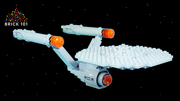 How To Build LEGO Space Ship - USS Enterprise from Star Trek