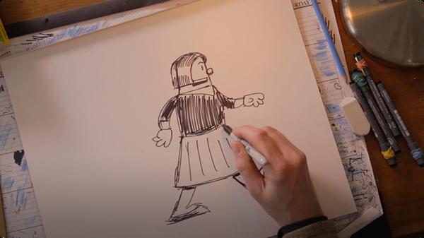 Drawing Big Nate: Childhood Cartoons