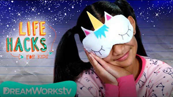 Unicorn Sleeping Mask + More Bedtime Hacks | LIFE HACKS FOR KIDS