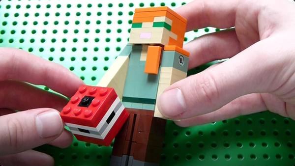 How to Build: Lego Minecraft TNT Block