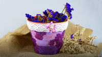DIY Decoupage Lilac Flower Pot