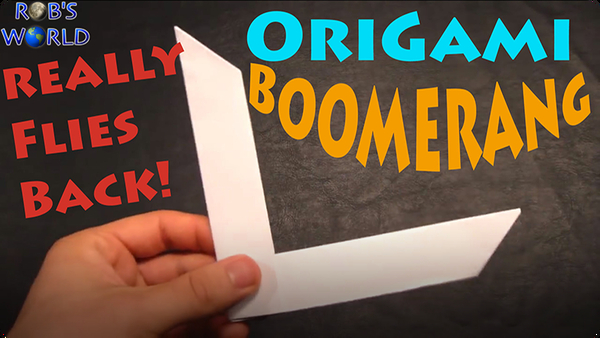 How to Make an Origami Boomerang