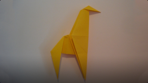 Origami Simple Giraffe