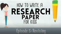 Writing a Research Paper: Revising