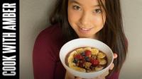 Apple Cinnamon Acai Bowl! | Cook With Amber