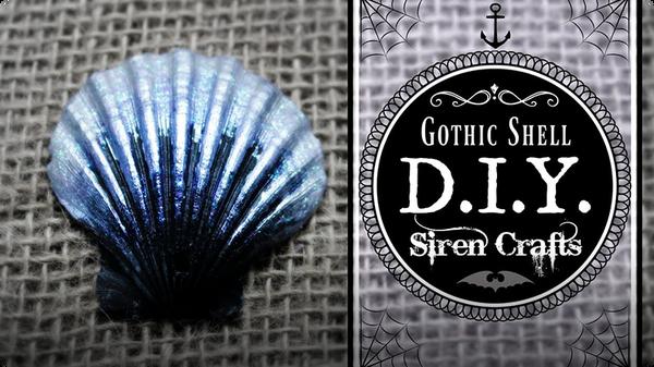 How to Paint a Seashell: Spooky Black Shell Tutorial