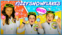 Frozen Activities: Fizzy Snowflake Science Experiment