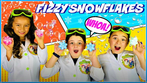 Frozen Activities: Fizzy Snowflake Science Experiment