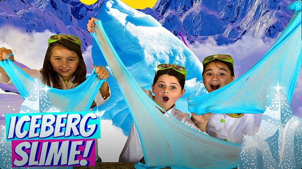 Slime for Kids | Learn How to Make Iceberg Crunchy Slime!