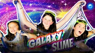 DIY Starry Night Galaxy Slime