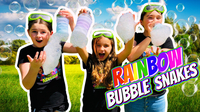 Science for Kids with The Wild Adventure Girls! Make RAINBOW BUBBLE Snakes!